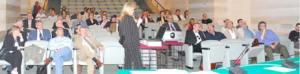 La dotoressa Borgese parla durante il Convegno sull'etichettatura