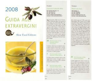 L\'olio Verdorolio e l\'Olio Cuscinà sulla Guida di Slow food
