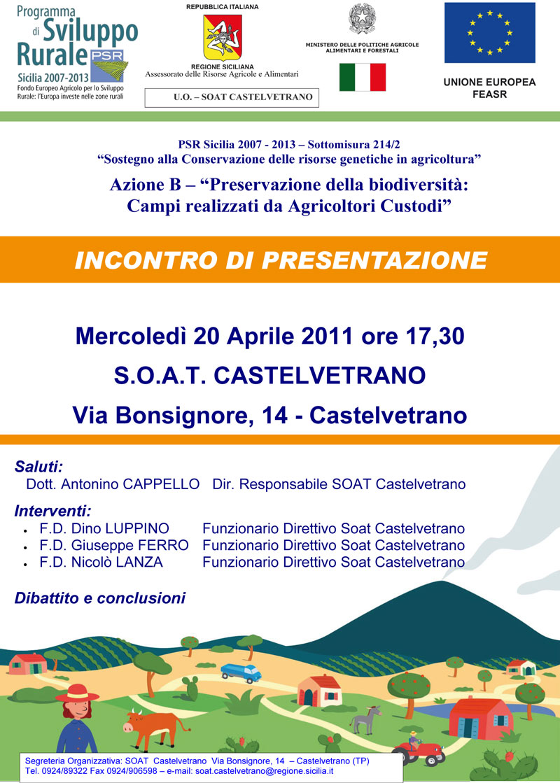 Incontro alla SOAT di  Castelvetrano (TP) - dott. Antonio Cappello